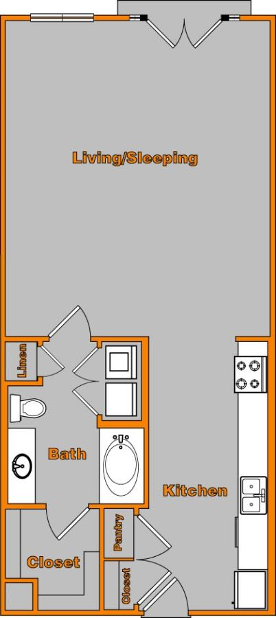 750 sq. ft. LOFT 2 floor plan