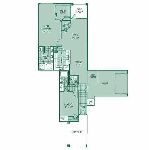 1,246 sq. ft. Asteria floor plan
