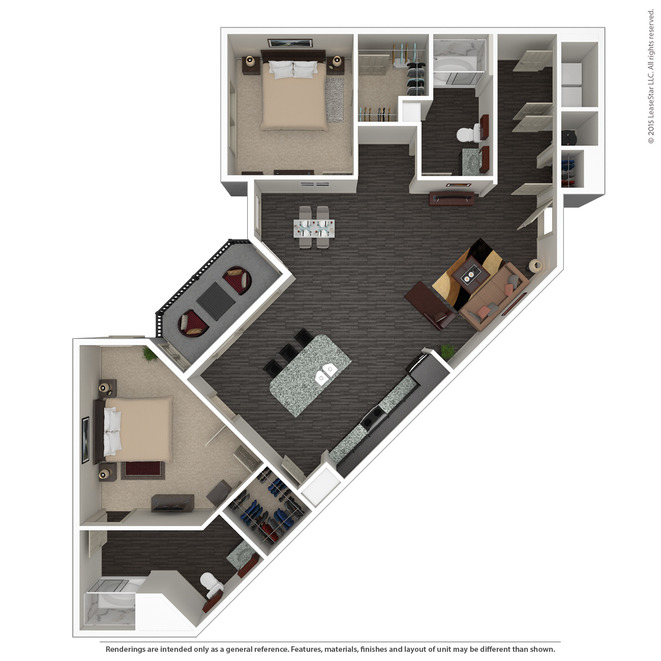 1,376 sq. ft. B4 ANSI floor plan