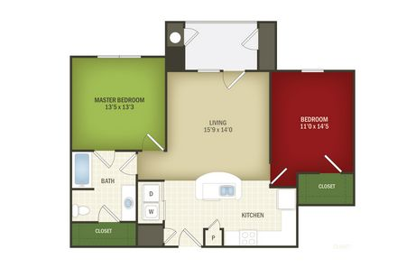 993 sq. ft. Heritage/30% floor plan