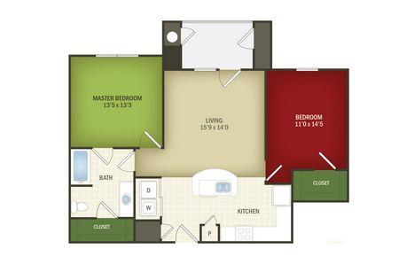 993 sq. ft. Heritage 30% floor plan