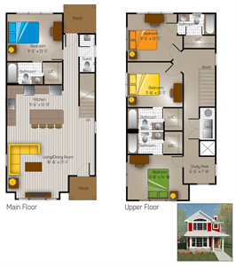 1,907 sq. ft. Austin(Cottage) floor plan