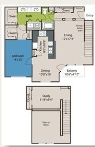 1,084 sq. ft. A10 floor plan