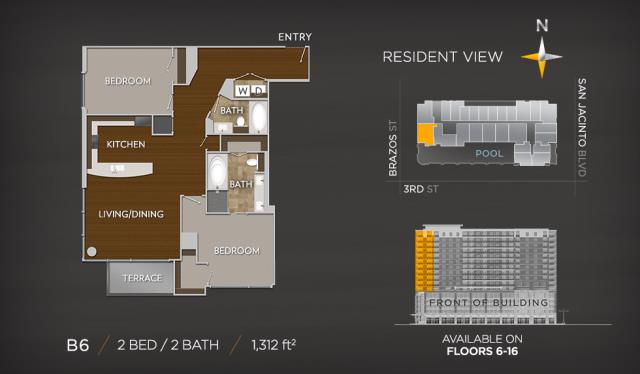 1,312 sq. ft. B6 floor plan