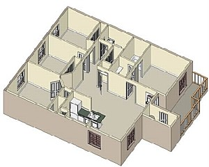 1,239 sq. ft. 60 floor plan
