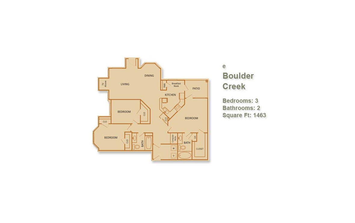 1,463 sq. ft. Boulder Creek floor plan