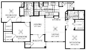 1,213 sq. ft. C1 floor plan