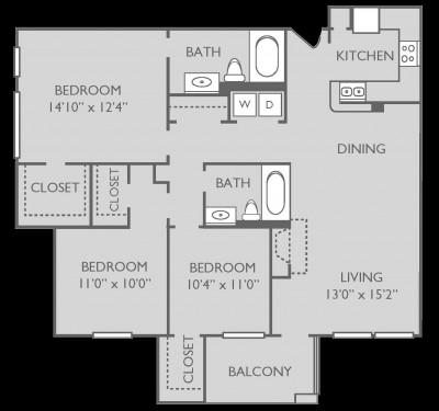 1,231 sq. ft. Fairway floor plan