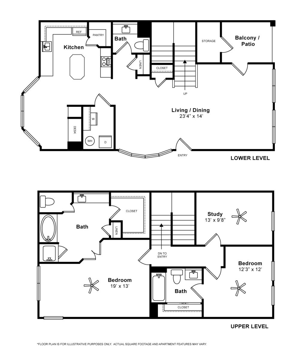 1,739 sq. ft. Cortona floor plan