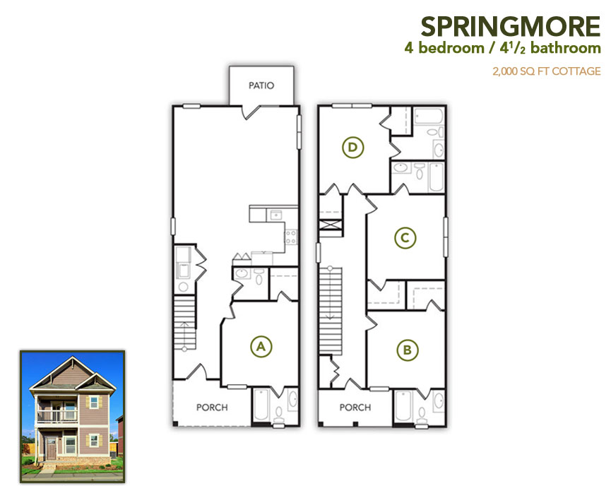 2,000 sq. ft. Springmore floor plan
