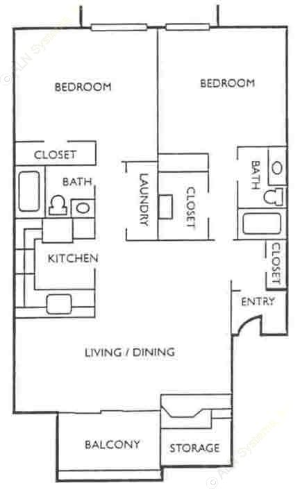 1,204 sq. ft. floor plan