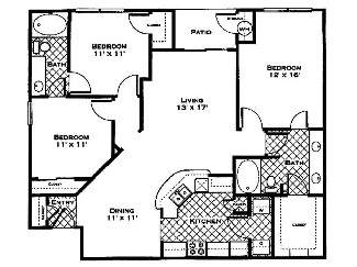 1,333 sq. ft. Dogwood floor plan