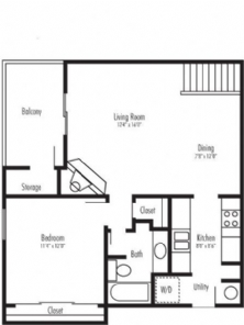 768 sq. ft. Watson jr floor plan