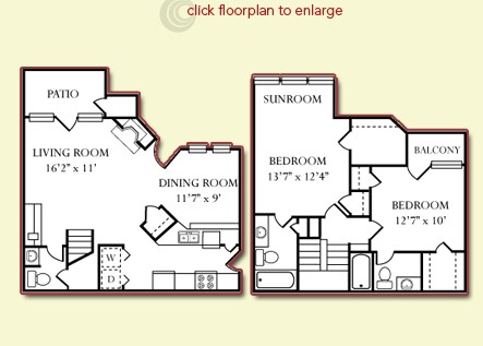 1,268 sq. ft. Grand Canyon floor plan