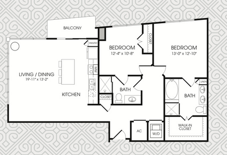 1,316 sq. ft. B7 floor plan