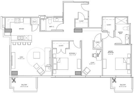 1,519 sq. ft. F floor plan