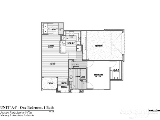 813 sq. ft. A4 HC 60 floor plan