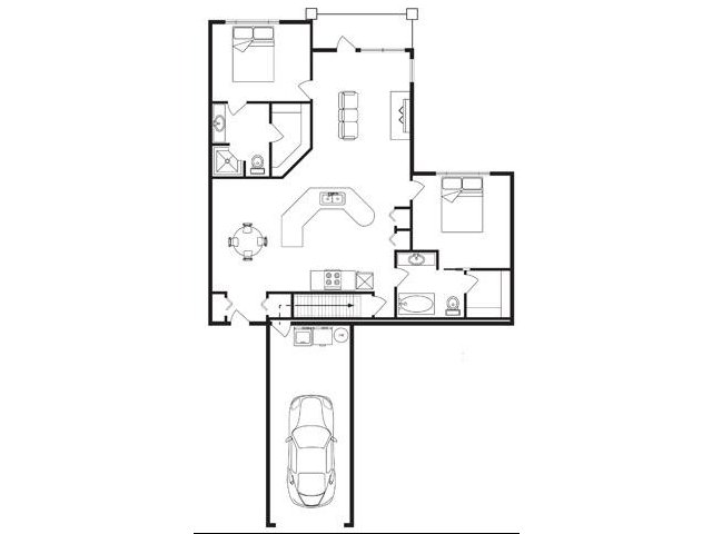 1,197 sq. ft. floor plan