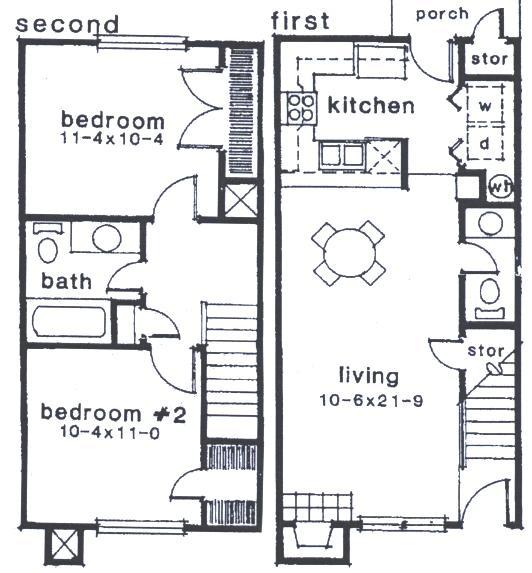 885 sq. ft. B1 floor plan