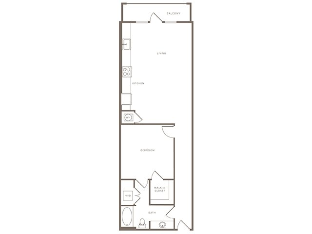 819 sq. ft. A8 floor plan
