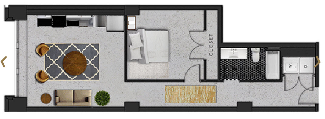 817 sq. ft. B floor plan