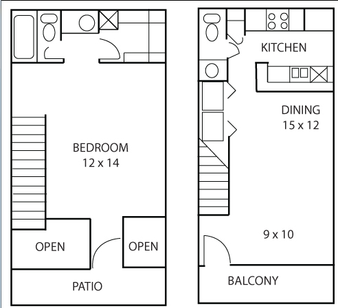 737 sq. ft. Callalilly floor plan
