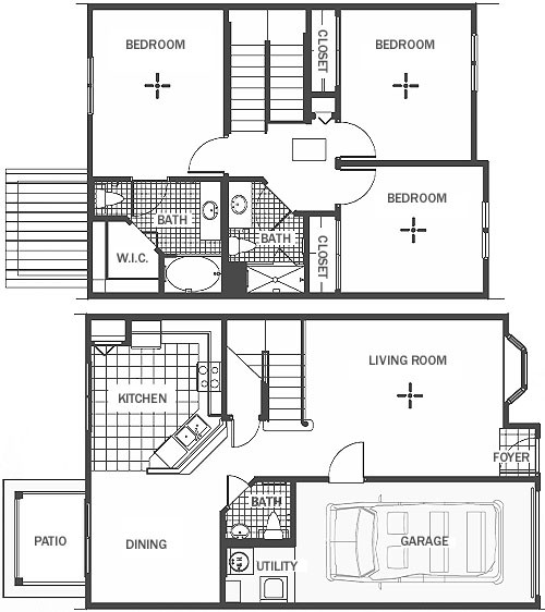 1,284 sq. ft. floor plan