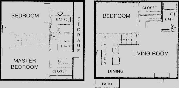 1,429 sq. ft. C4 floor plan
