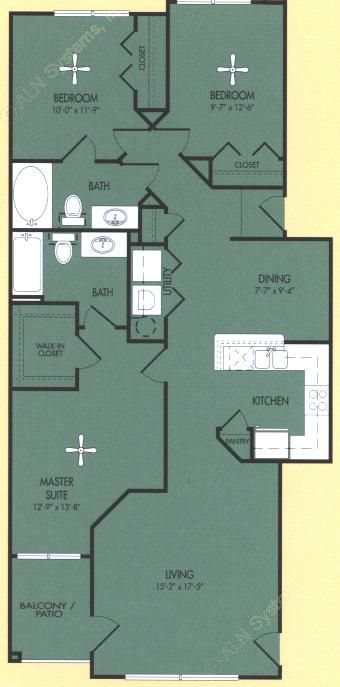 1,265 sq. ft. C floor plan