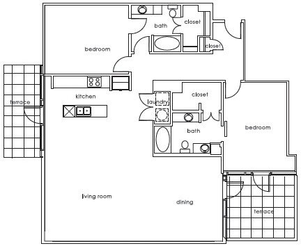 1,681 sq. ft. 1407 G floor plan
