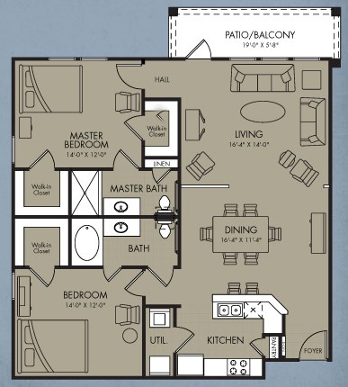 1,248 sq. ft. Nova floor plan