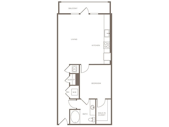 810 sq. ft. A7 floor plan
