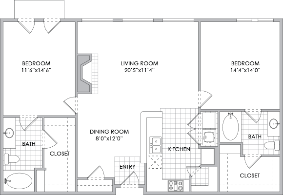 1,283 sq. ft. B7 floor plan