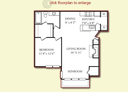 756 sq. ft. Yosemite Downstairs floor plan