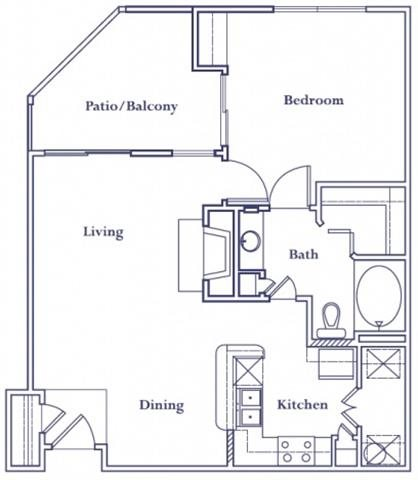 756 sq. ft. A4 floor plan