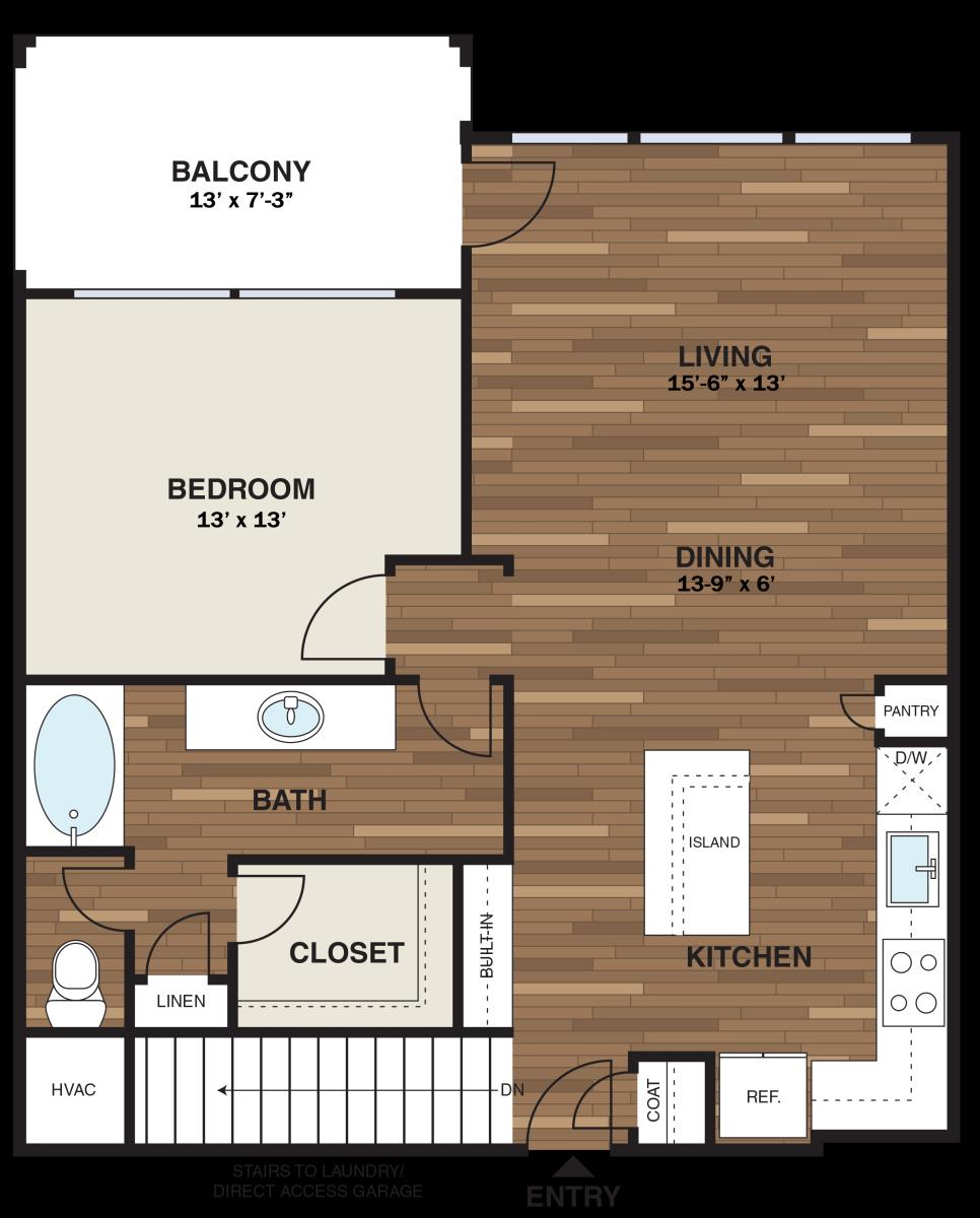 847 sq. ft. A10GG floor plan
