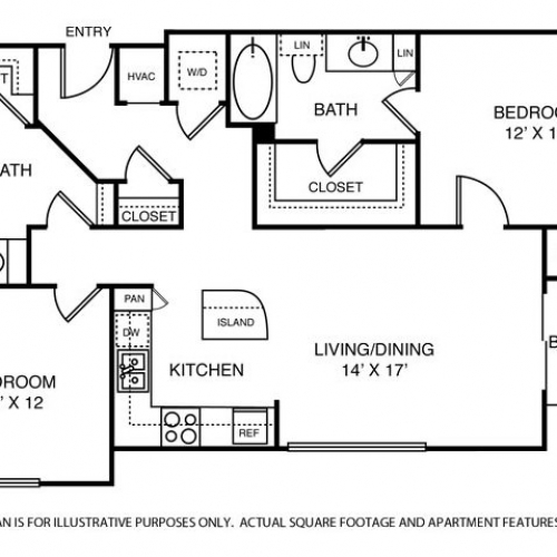 1,237 sq. ft. B1 floor plan