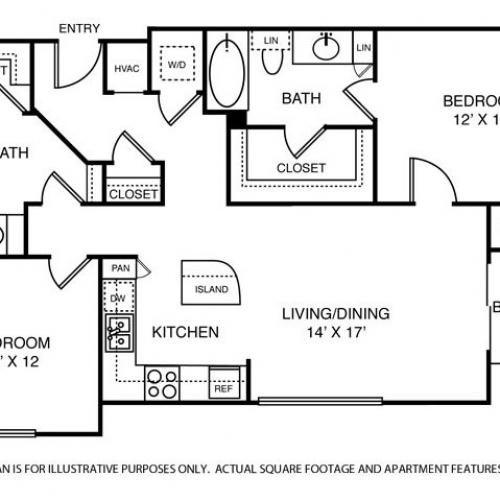 1,237 sq. ft. B1 floor plan