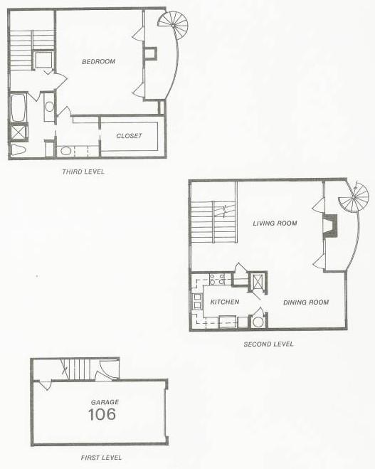 1,629 sq. ft. 102 Try-Level floor plan