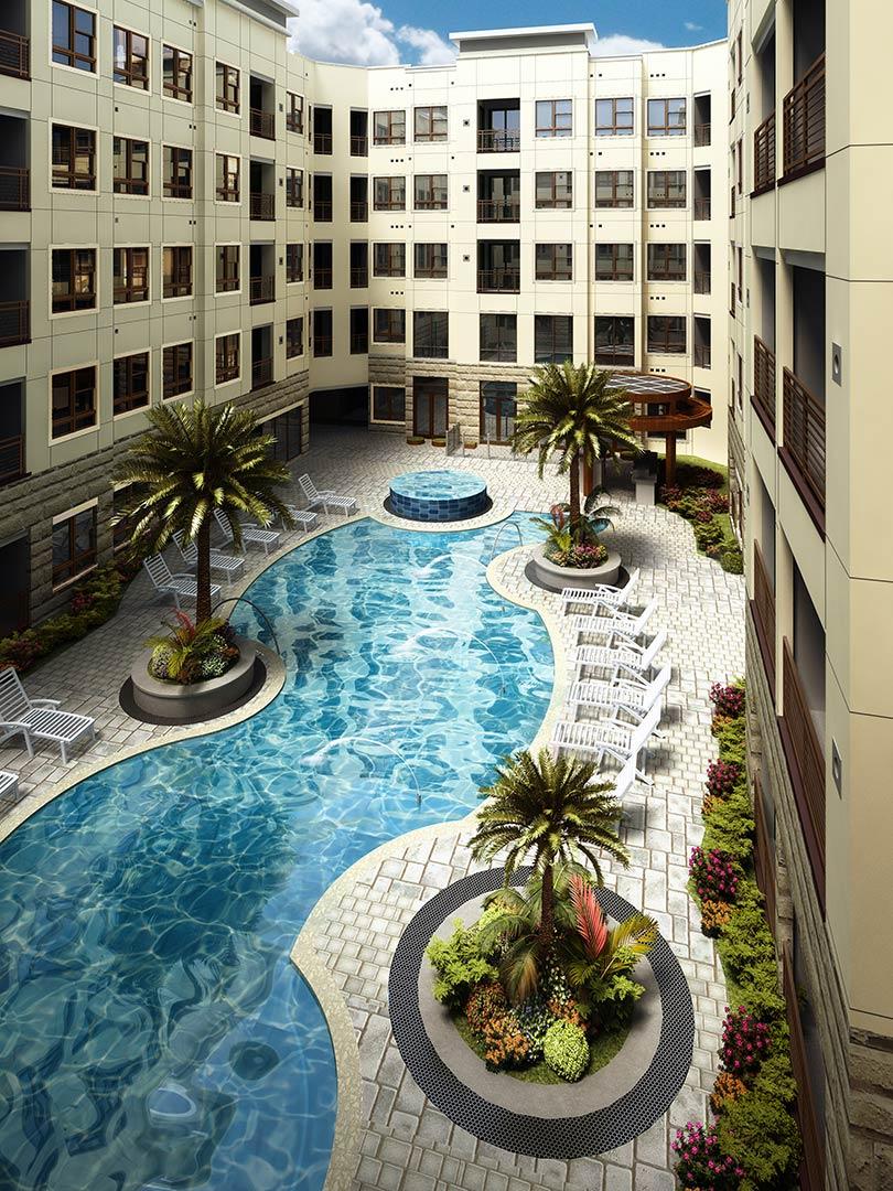 Pool at Listing #227414