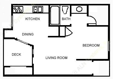 404 sq. ft. A floor plan