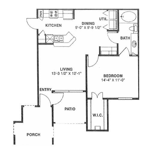706 sq. ft. A 60% floor plan