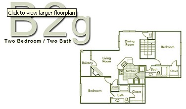 1,210 sq. ft. B2G floor plan