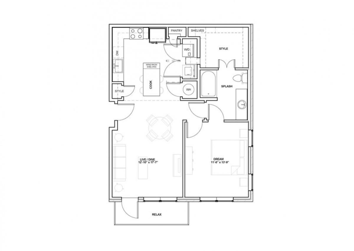 837 sq. ft. Majestic floor plan
