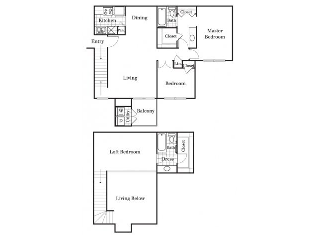 1,295 sq. ft. C floor plan