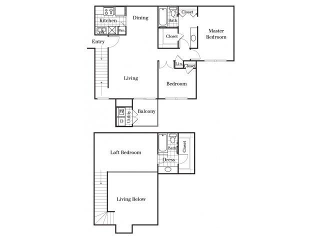 1,295 sq. ft. C floor plan