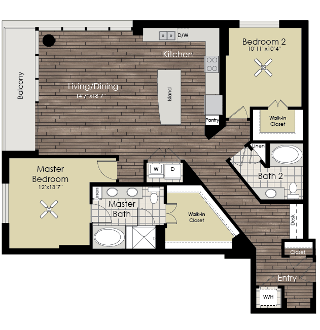 1,553 sq. ft. B7 floor plan