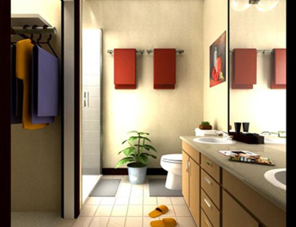 Bathroom at Listing #145148