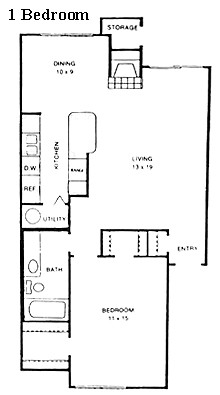 721 sq. ft. Augusta floor plan
