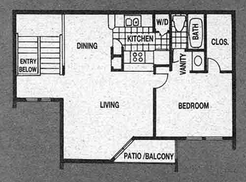 725 sq. ft. A4 floor plan